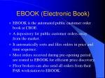 ebook electronic book