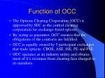 function of occ