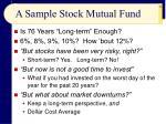 a sample stock mutual fund