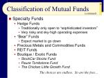 classification of mutual funds28
