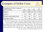 examples of dollar costs16