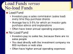 load funds versus no load funds