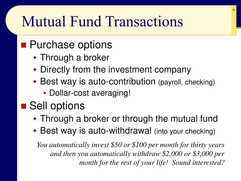 Mutual Fund Transactions