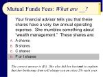 mutual funds fees what are23