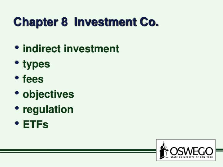 Chapter 8 investment co