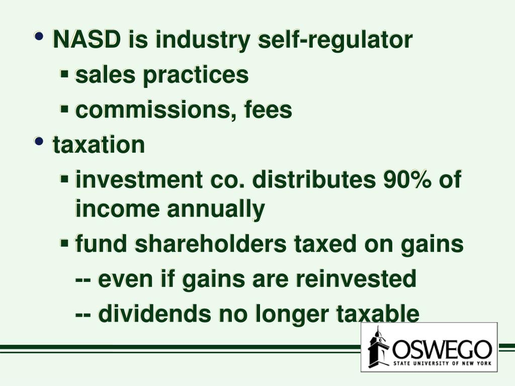 NASD is industry self-regulator