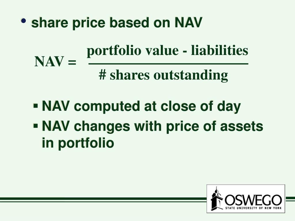 portfolio value - liabilities