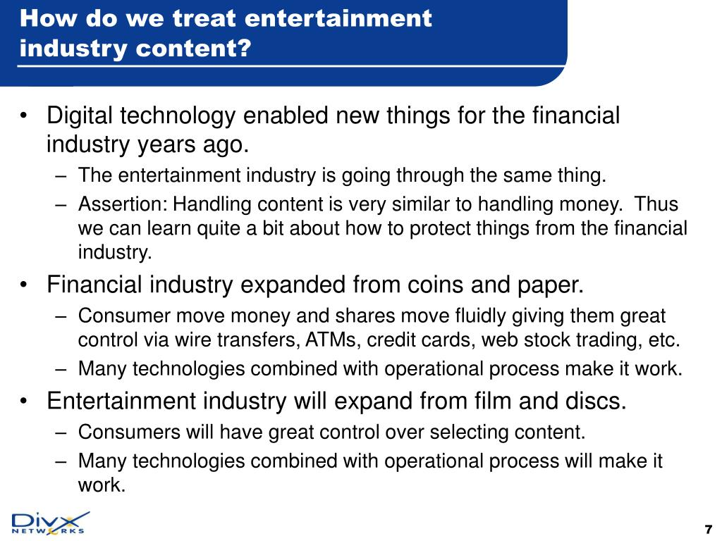 How do we treat entertainment industry content?