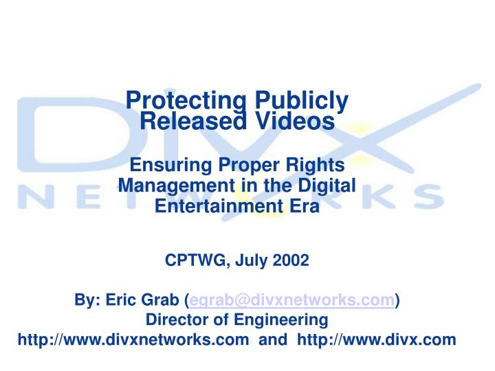 Protecting Publicly Released Videos