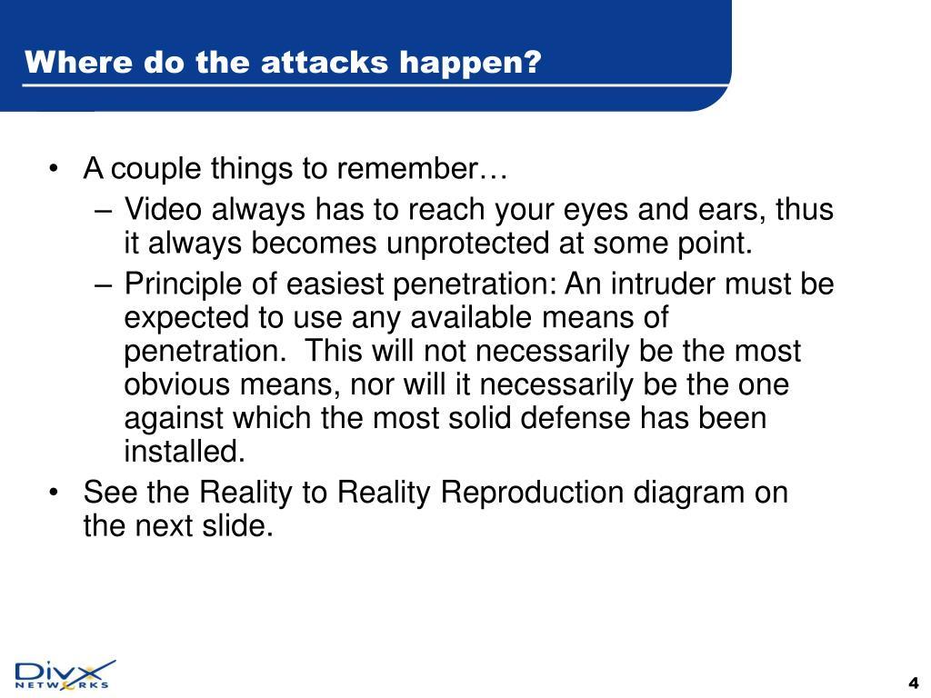 Where do the attacks happen?