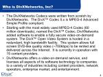 who is divxnetworks inc