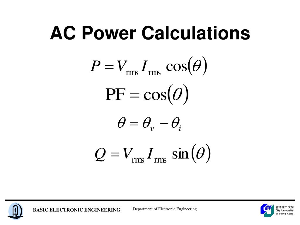 AC Power Calculations