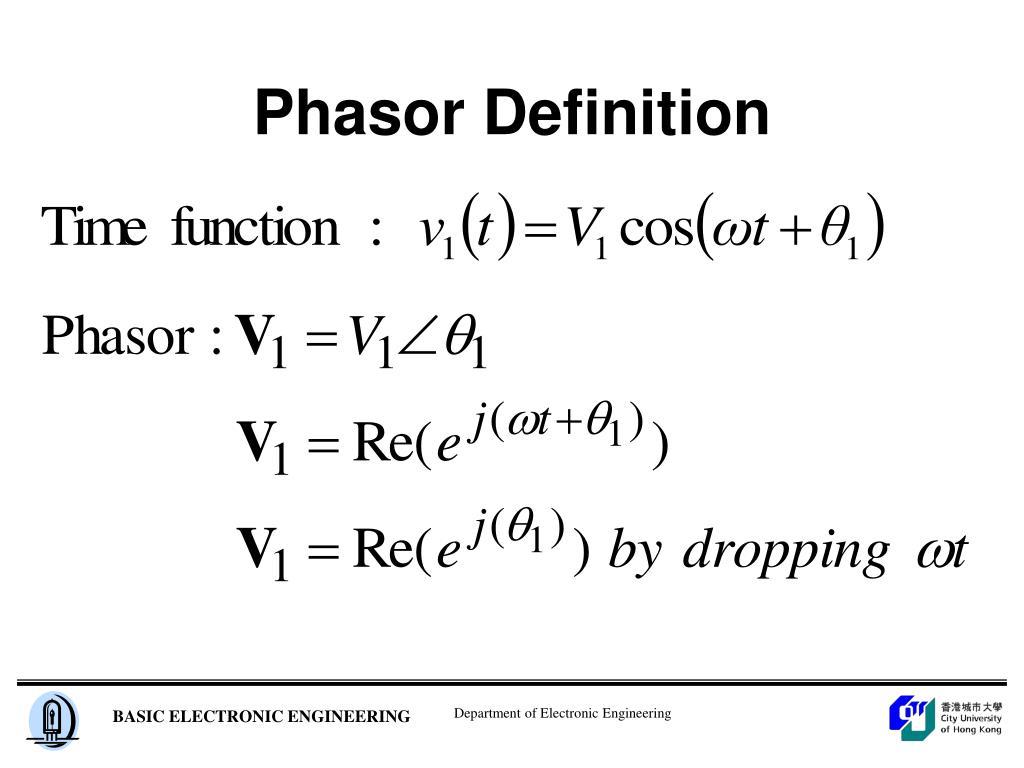 Phasor Definition