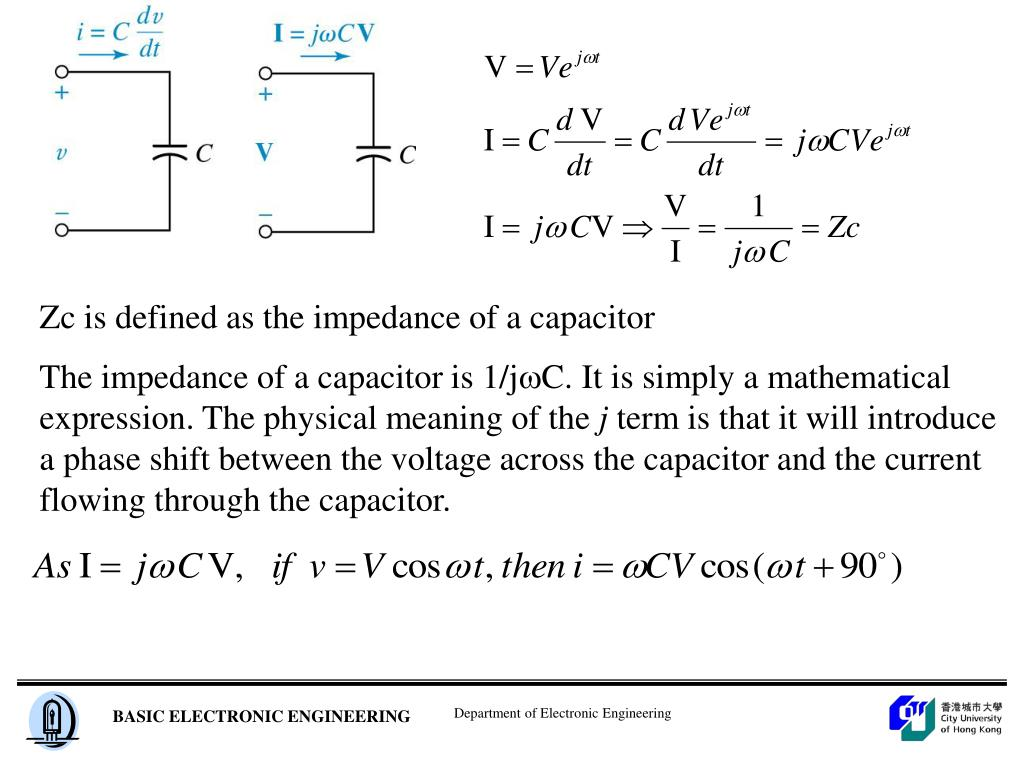 Zc is defined as the impedance of a capacitor