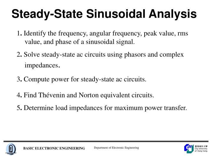 Steady state sinusoidal analysis
