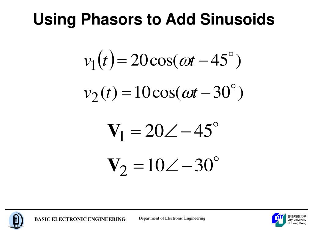 Using Phasors to Add Sinusoids