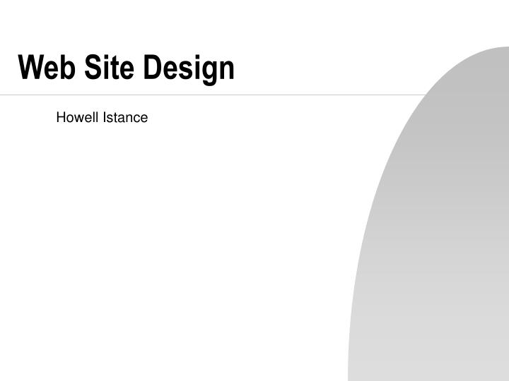 web site design n.