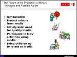 the future of the protection of minors attitudes and possible action