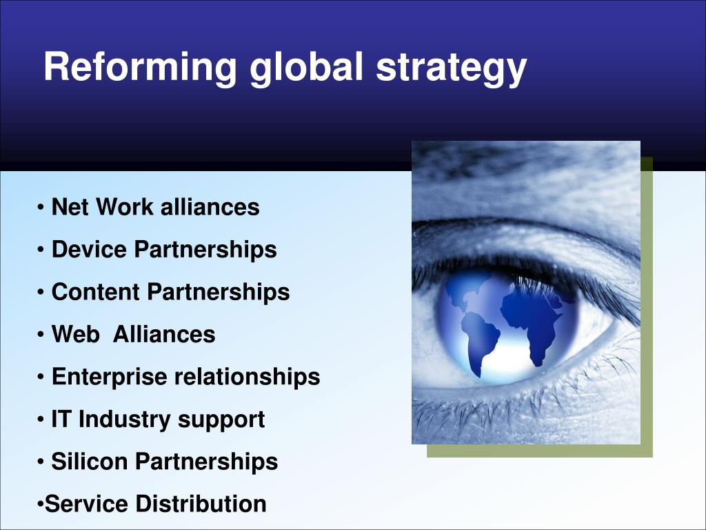 Reforming global strategy