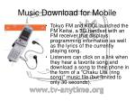 music download for mobile