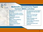 multimedia and interactive digital content midc activities