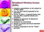 broadband wireless access bwa