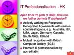 it professionalization hk36