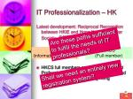it professionalization hk37
