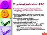 it professionalization prc