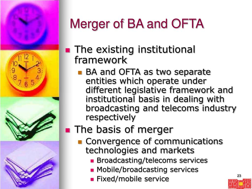 Merger of BA and OFTA
