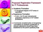 proposed registration framework for it professionals