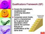 qualifications framework qf