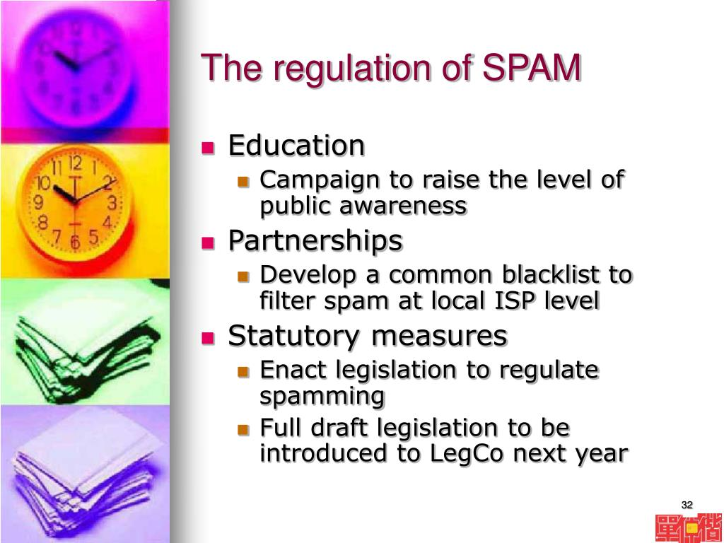 The regulation of SPAM