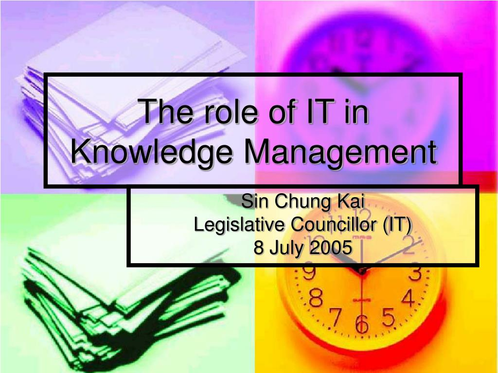 the role of it in knowledge management l.