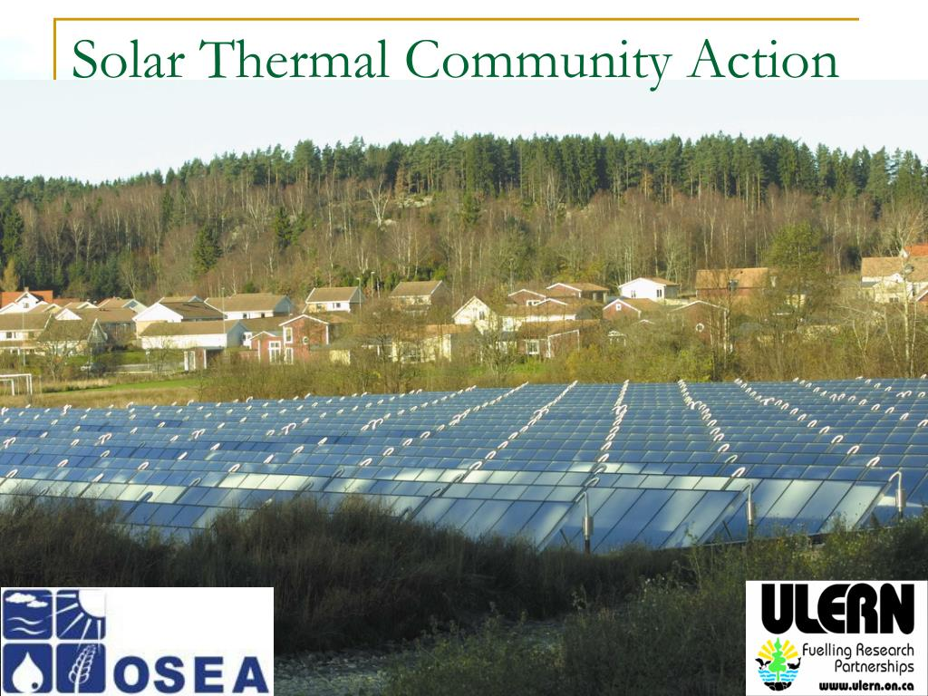solar thermal community action l.