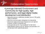 collaborative opportunities