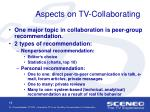aspects on tv collaborating
