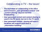 collaborating in tv the future