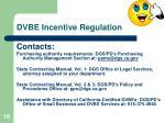 dvbe incentive regulation