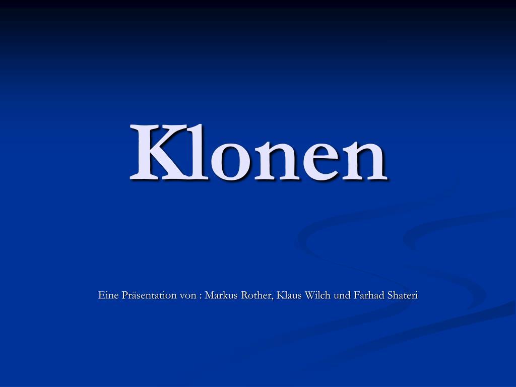 klonen definition