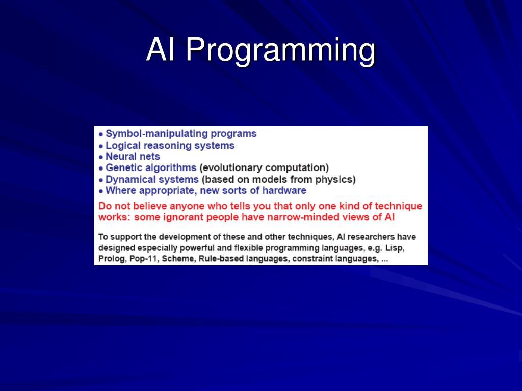 AI Programming
