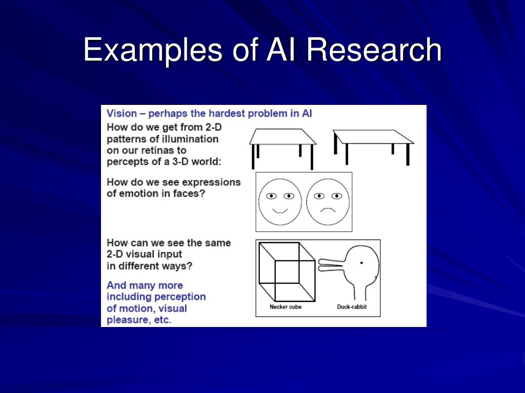 Examples of AI Research
