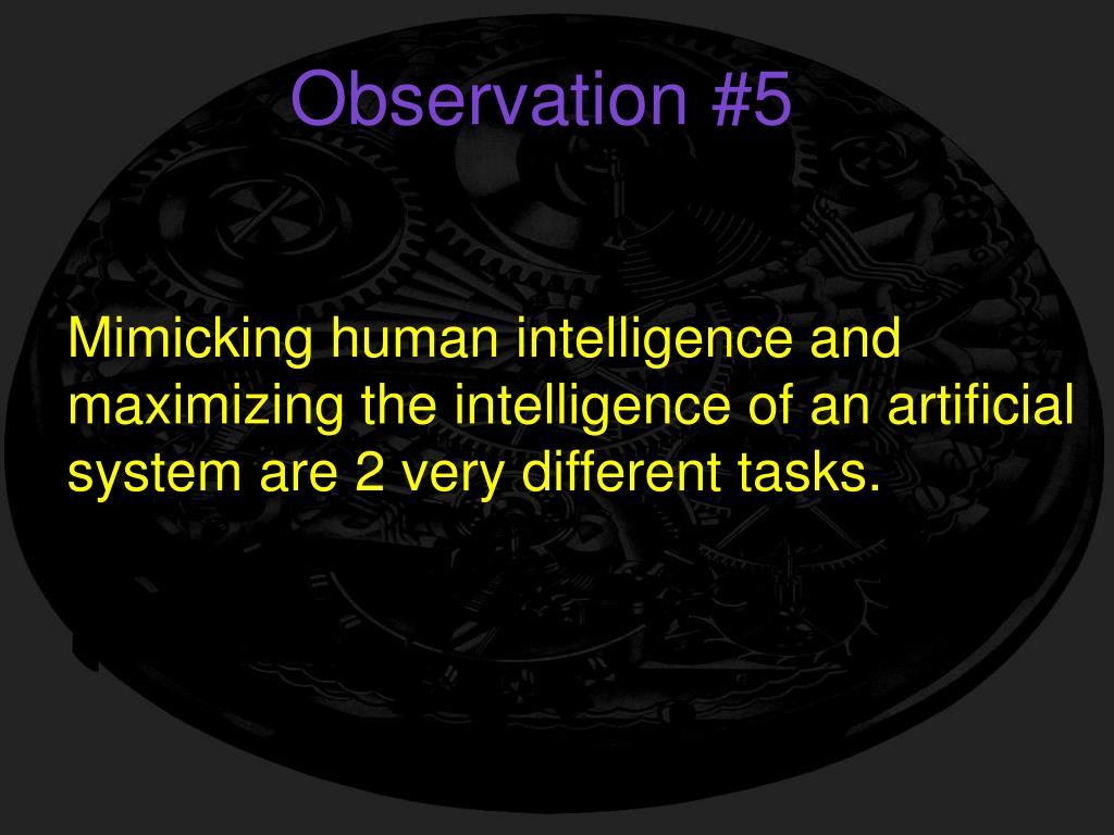 Observation #5