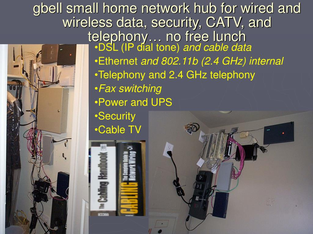 gbell small home network hub for wired and wireless data, security, CATV, and telephony… no free lunch