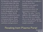 reading from plasma panel