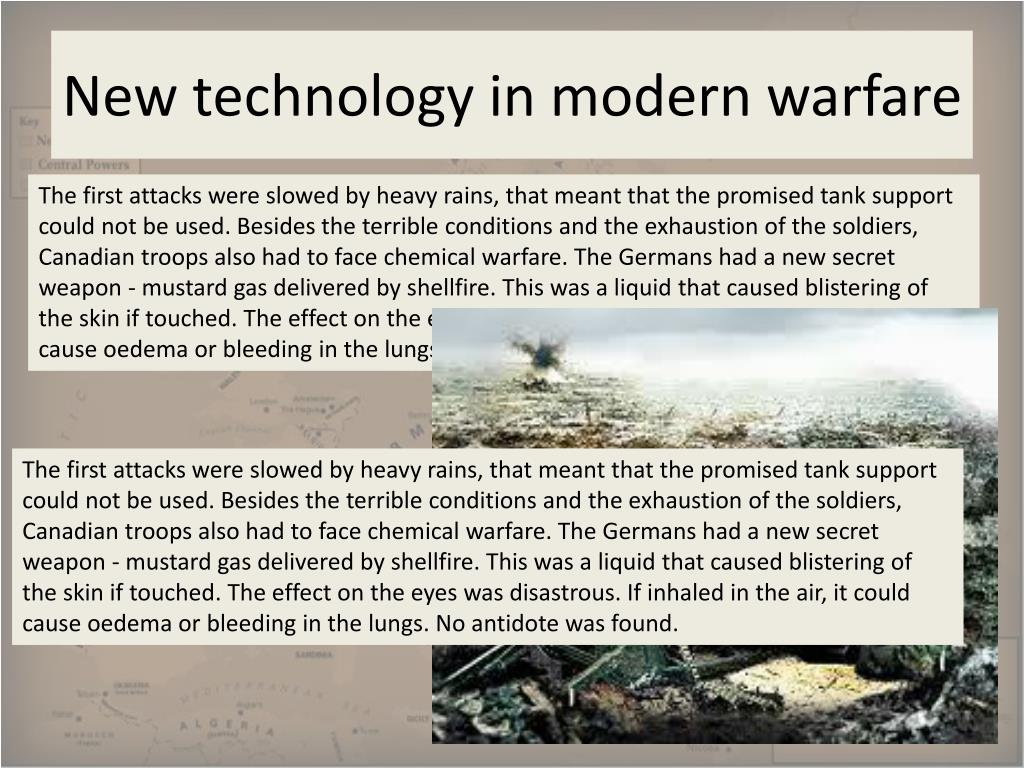 Modern warfare and technology - Term paper Example