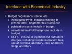 interface with biomedical industry7