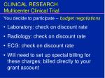 clinical research multicenter clinical trial12