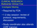 clinical research multicenter clinical trial14