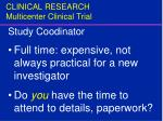 clinical research multicenter clinical trial17